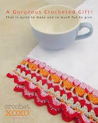crochet a gorgeous edging on a tea towel creative jewish mom