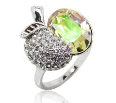 gorgeous engagement rings sweet luxury apple shape gorgeous engagement rings with bright