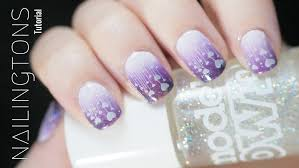 easy nail art purple heart gradient nails u0026 stamping how to nail