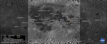 Space Debris Map Human Artifacts On The Moon
