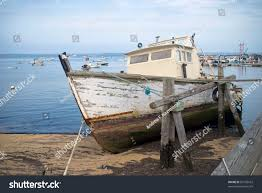 old boat old boat provincetown harbor stock photo 81526162