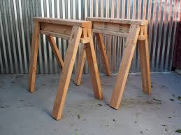 How To Make A Simple Wooden Bench - how to build stackable sawhorses