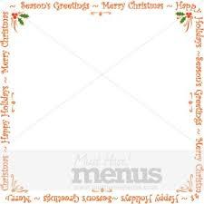 blank holiday announcement card christmas menu borders