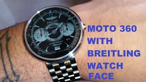 breitling bentley on wrist moto 360 with breitling watch face youtube