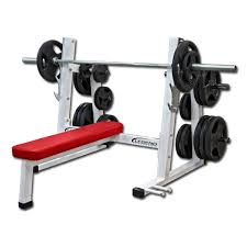 Flat Bench Barbell Press Pro Series Olympic Flat Bench Press W Band Pegs Legend Fitness