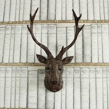 wooden stag wall wall mounted stag melody maison