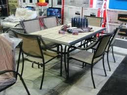 6 Chair Patio Set Tile Top Patio Table And Chairs Photo 2 Of 8 Patio Table Set