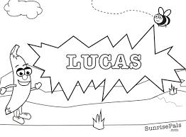 print coloring names lucas jpg