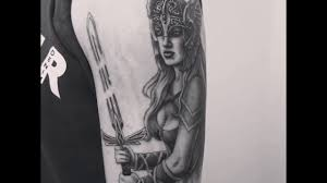 valkyrie tattoo by zindy ink youtube