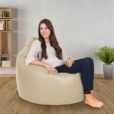 real leather bean bag chair