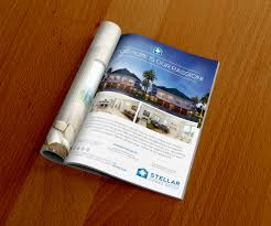 Home Design Social Network Stellar Homes Group Magazine Ad Design Print Collateral
