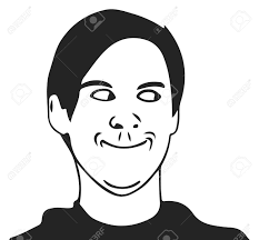 Cartoon Meme Faces - troll guy meme face for any design royalty free cliparts vectors