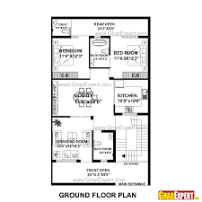 house plan for 30 feet by 51 feet plot plot size 170 square yards