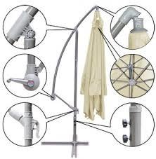 Patio Umbrellas Parts by Brand New 9 U0027 Outdoor Cantilever Umbrella Mosquito Net