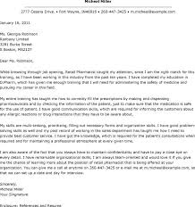 retail resume exle pharmacist cover letter resume retail pharmacist cover letter exle