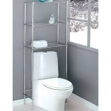 Bathroom Storage Chrome Bathroom Toilet Space Saver In The Toilet Shelving