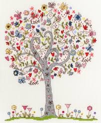 bothy threads tree counted cross stitch kit new