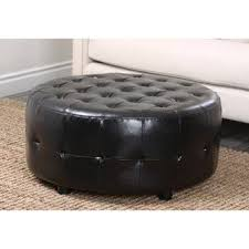 Ottoman Black Leather Black Leather Ottomans Storage Ottomans For Less Overstock