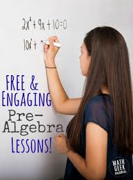 free printable pre algebra lessons and resources