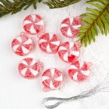 candy ornaments artificial peppermint candy ornaments christmas ornaments
