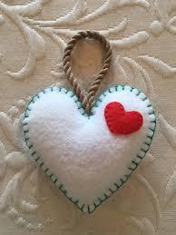felt crafts felt ornament valentine valentine felt heart