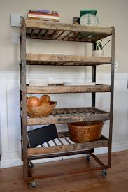 Etagere Antique Industrial Shelving For Bread Antique In Metal And Wood
