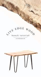 live edge wood bench tutorial