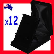 necklace set gift box images 12x jewellery set display gift box 11x16cm black velvet jpg