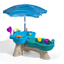 step 2 water table with umbrella step2 spill splash seaway water table with umbrella jcpenney