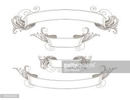 engraved ribbon ornate engraved ribbon banners vector getty images