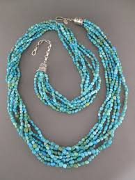 turquoise necklace images Long 7 strand sleeping beauty turquoise necklace turquoise jewelry jpg