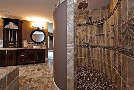 Bathroom With Open Shower Doorless Shower Ideas Open Shower Bathroom Design Of A Modern
