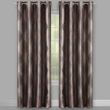 Blackout Window Curtains Franklin Brown Ogee Swirl Lined Window Curtains Set Of 2