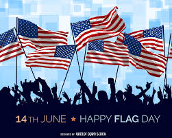 American Flag Header Usa Flag Day Illustration Vector Download
