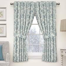Blue Toile Curtains Blue Toile Curtains Drapes You Ll Wayfair