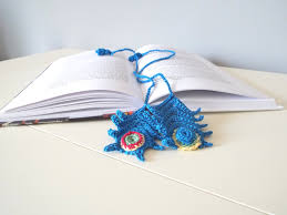 handmade crochet bookmark peacock feather small giftables gift