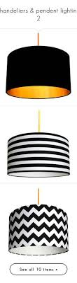 black and white striped l shade iumi hektor l pendant l 210 liked on polyvore featuring
