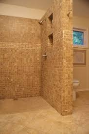 Open Showers No Doors Shower No Door Or Curtain Home Remodel Pinterest Doors And No