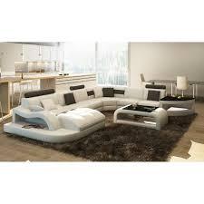 canapé angle 8 places canapé d angle en cuir italien 8 places nordik et achat vente