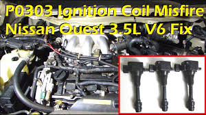 nissan murano 2005 youtube nissan 3 5l v6 ignition coil misfire p0303 cylinder 3 misfire