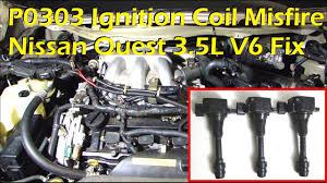 nissan 3 5l v6 ignition coil misfire p0303 cylinder 3 misfire