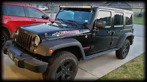 jeep jk hood led light bar episode 216 jeep wrangler 21 hood mount mictunning cree led light