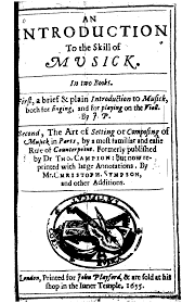 Introduction An Introduction To The Skill Of Musick Playford John Imslp