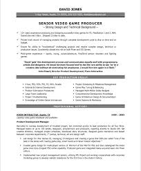 Free Resume Checker Online by Senior Video Game Producer Resume Samples U0026 Examples