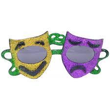 mardi gras glasses comedy tragedy mardi gras sunglasses sg100 mardigrasoutlet