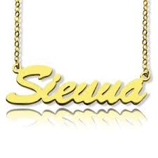 Customized Name Necklaces Custom Nameplate Necklace Cheap