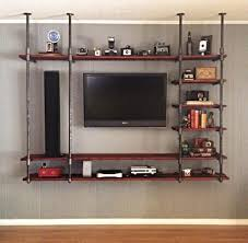 Steel Pipe Shelving by Dyi Industrial Pipe Entertainment Center Diy Pinterest