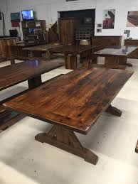 reclaimed wood showroom tables for sale