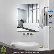 3mm frameless custom shape bathroom silver mirror mirror
