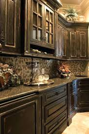 Distressed Kitchen Cabinets Black Distressed Kitchen Cabinets And Antiquing Kitchen Cabinets